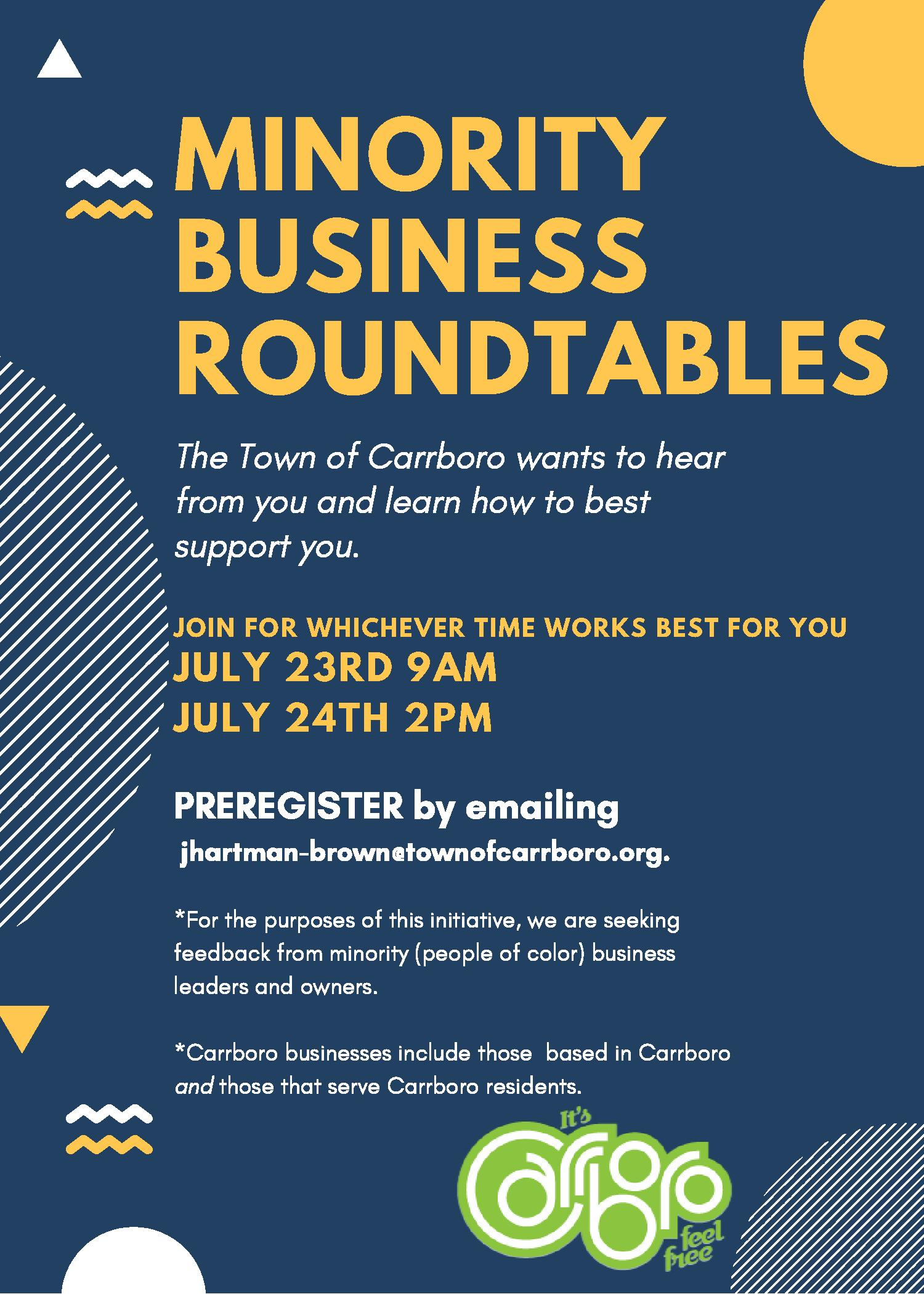Minority Roundtables Flyer